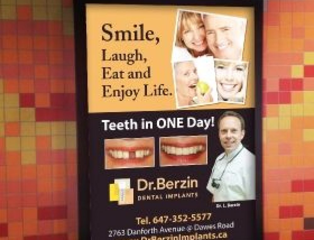 Dr. Berzin Providing Dental Implants