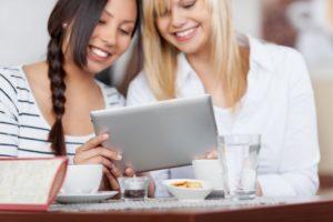 females watching videos facebook