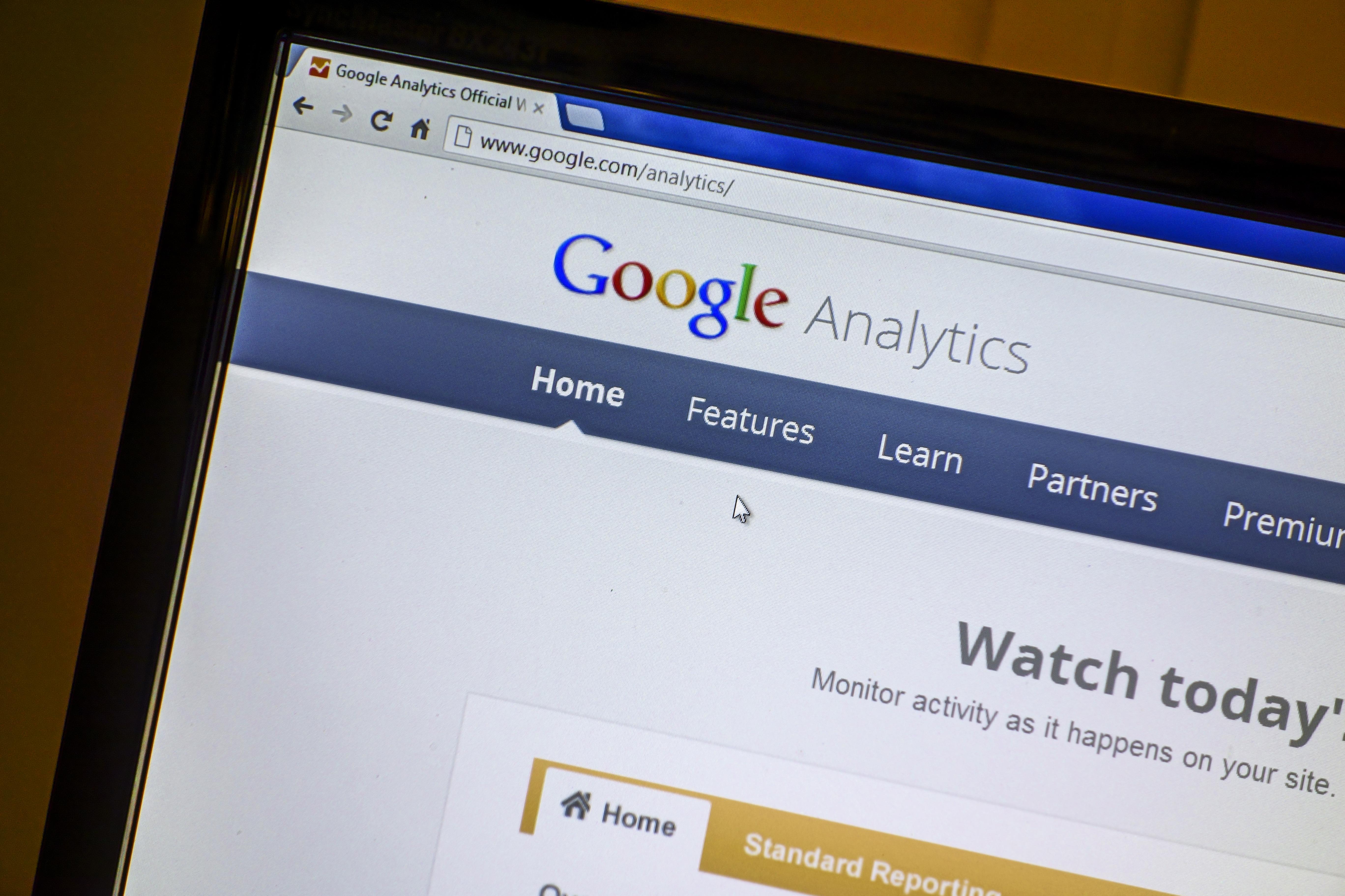 Google website display on computer screen